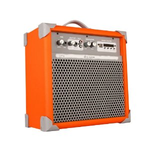 Caixa De Som Amplificada Multiuso Up!6 Light Orange Fm/BT