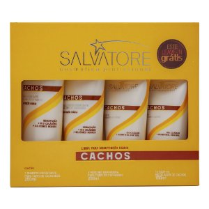 Kit Salvatore Cachos 3 produtos + 1 leave-in