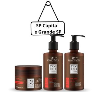 Tanino Therapy Kit Curly Hair Shampoo 300ml + Condicionador 250ml + Leave-in 300ml