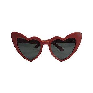 Óculos de Sol com Proteção UV Coração Vermelho