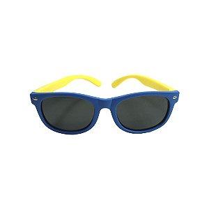 Óculos de Sol com Proteção UV Quadrado Azul