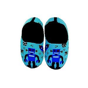 Sapatinho Térmico Antiderrapante Brinquedos Azul