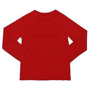 Camisa Manga Longa Vermelha com FPU 50+