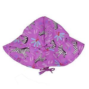 Chapéu Zebra Menina Rosa FPU 50+