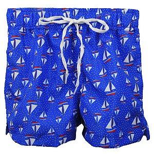 Short com Bolso Embutido Náutico Azul