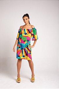 Vestido Curto - Arco-Íris