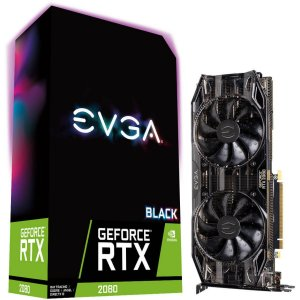 Placa de Vídeo EVGA NVIDIA GeForce RTX 2080 Black Gaming, 8GB, GDDR6 - 08G-P4-2081-KR