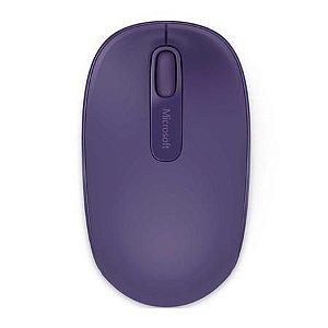 Mouse Sem Fio Microsoft 1850, Roxo - U7Z00048