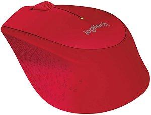 Mouse sem fio Logitech M280 vermelho