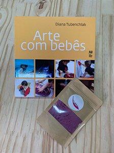 LIVRO ARTE COM BEBES + TINTA ARTESANAL DE BRINDE