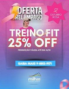 Promoção Outubro Rosa 25%off Funcional Fit Milhas Calhau