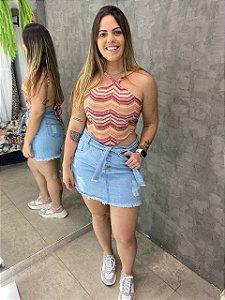 Saia Jeans Botões Clara
