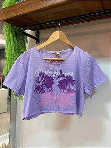 Tshirt Cropped Lilás