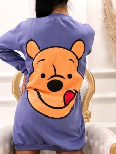 Vestido Moletom Pooh