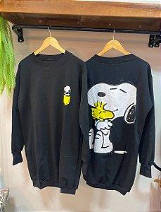 Vestido Moletom Snoopy