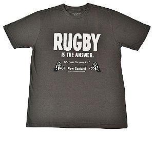 Camiseta Rugby Cinza