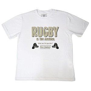 Camiseta Branca Rugby