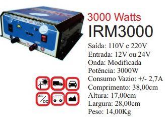 Inversor de Energia 12v ou 24v 3000w onda modificada