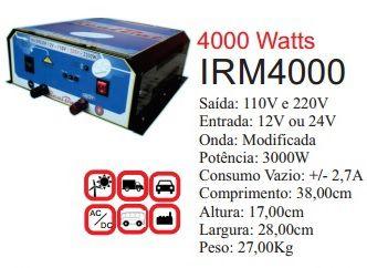 Inversor de Energia 12v ou 24v 4000w onda modificada