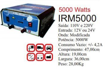 Inversor de Energia 12v ou 24v 5000w onda modificada