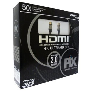 Cabo HDMI 2.0 Premium 4K Ultra HD 3D Chip Sce - 19 Pinos - 50 metros - 018-5020