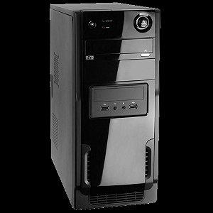 Gabinete Wisecase Atx 2b Ft403 Black Piano C/ Fonte Preto
