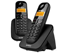 TELEFONE SEM FIO INTELBRAS + 1 RAMAL TS 3112 PRETO