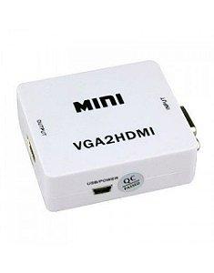 Mini Conversor de VGA para HDMI (Com Audio)