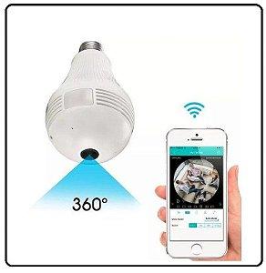 Lâmpada LED com Câmera 360° WIFI