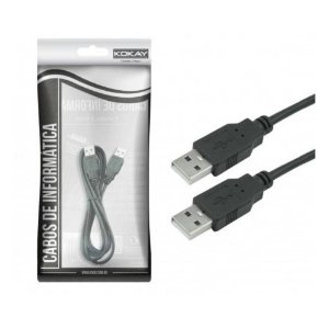 Cabo USB A Macho 2.0 Para A Macho 1.80m