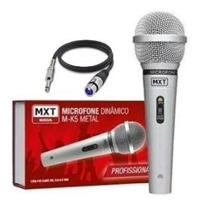 Microfone Mxt M-k5 Dinâmico Profissional