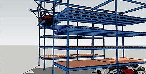 Estacionamento Vertical de 5 níveis