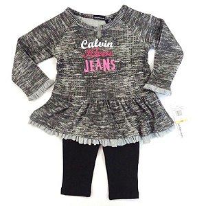 Calvin Klein conjunto Cinza + Legging