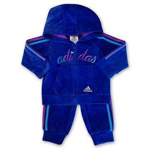 Adidas Conjunto Abrigo c/capuz Roxo