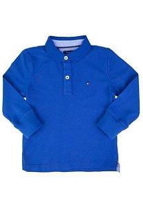 Tommy Hilfiger Camisa Manga Longa Azul