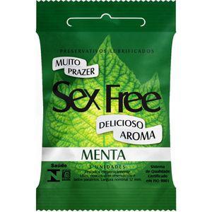 04580 - PRESERVATIVO MENTA COM 3 UNIDADES - SEX FREE
