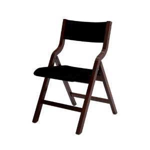 Cadeira Audace Dobrável Cor Imbuia Assento E Encosto Estofado Dunas Preto Fox 4.2.663