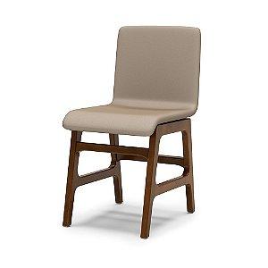 Cadeira Forza em Madeira maciça Assento e encosto Estofado
