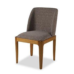 Cadeira Avidità em Madeira maciça assento e encosto Estofado