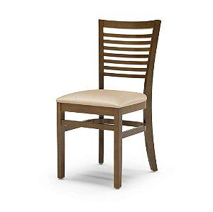 Cadeira Chicago em madeira Assento Estofado