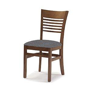 Cadeira Santiago Castanho Assento Estofado