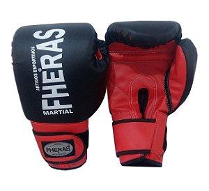 Luva de Boxe / Muay Thai - Preto - Fheras
