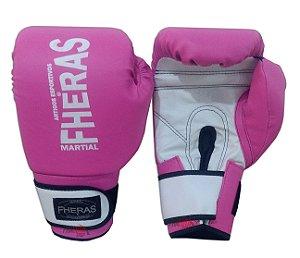 Luva de Boxe / Muay Thai Feminina - Rosa - Fheras