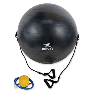 Bola de Pilates 65cm com Extensor C/Bomba - Muvin
