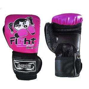 Luva de Boxe / Muay Thai Infantil Feminina Fight Brasil
