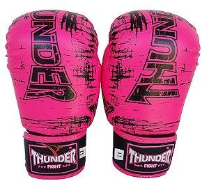 Luva de Boxe / Muay Thai 12oz Feminina - Rosa - Thunder Fight