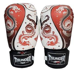 Luva de Boxe / Muay Thai 12oz  - Dragão Vermelho  - Thunder Fight