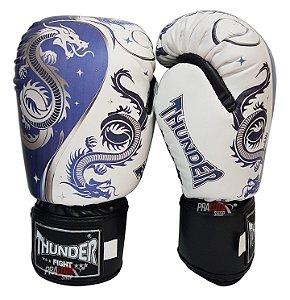 Luva de Boxe / Muay Thai 14oz  - Dragão Azul  - Thunder Fight