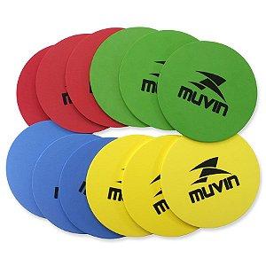Kit C/ 12 Marcadores De Eva Treinamento Funcional - Muvin