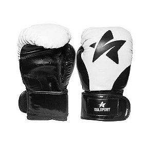 Luva de Boxe / Muay Thai 12oz - Preto / Branco  - SulSport